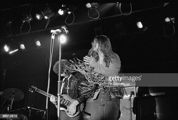 Tony Iommi and Ozzy Osbourne of Black Sabbath perform on stage at the Hardrock in Manchester England on March 11 1973