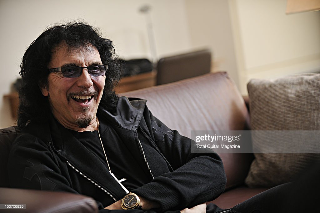 Tony Iommi during an interview at the Hilton hotel in Birmingham, September 7, 2011.