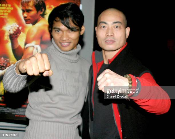 Tony Jaa and Shi Yan Ming during 'OngBak' New York City Screening After Party at Lot 61 in New York City New York United States
