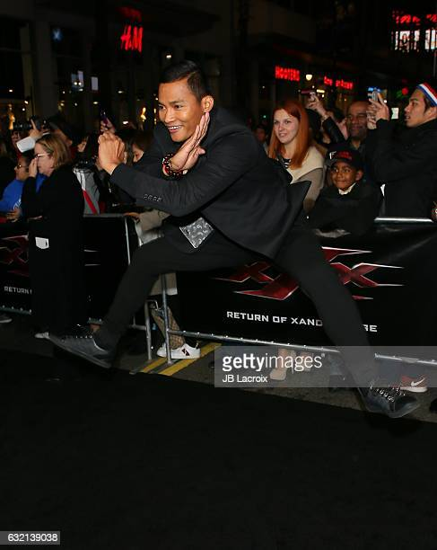 Tony Jaa attends the premiere of Paramount Pictures' 'xXx Return Of Xander Cage' on January 19 2017 in Los Angeles California