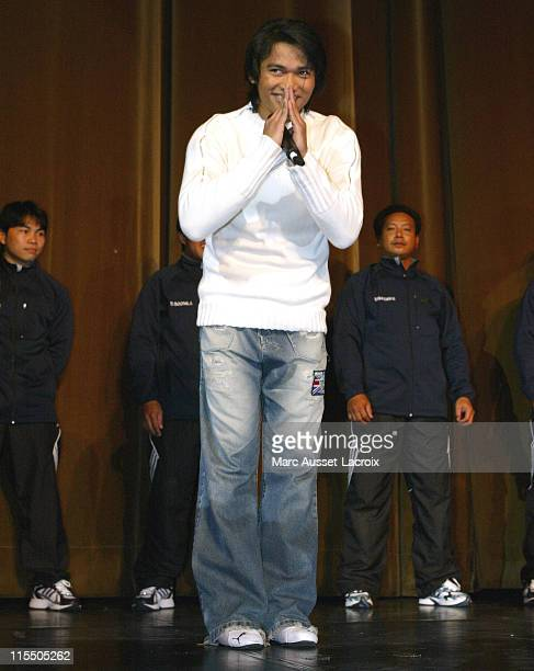 Tony Jaa during 'The Honor of the Dragon' Paris Premiere at Big Rex in Paris France