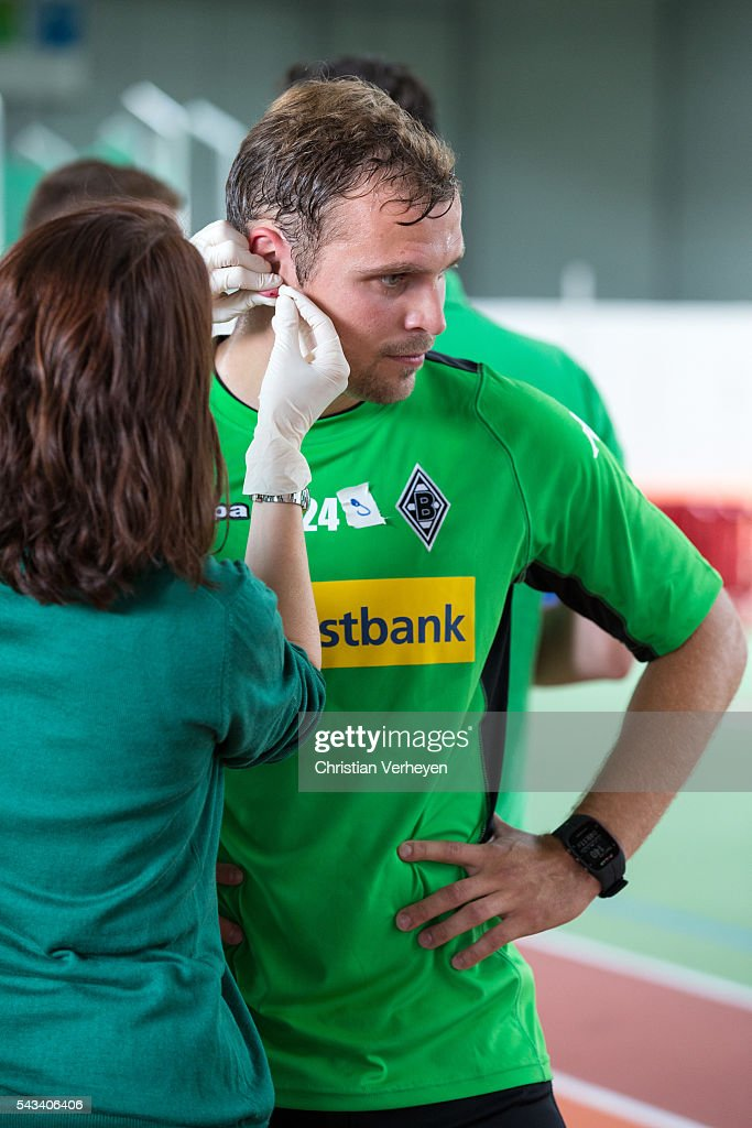 Tony Jantschke of Borussia Moenchengladbach during a Lactate Test in Duesseldorf on June 28, 2016 in Moenchengladbach, Germany.