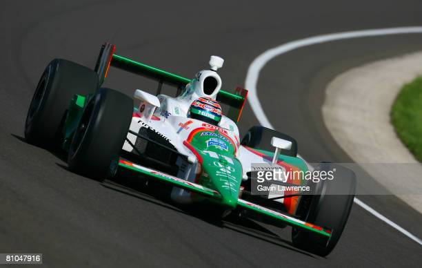 Tony Kanaan driver of the Team 7Eleven Andretti Green Racing Dallara Honda during qualifying for the IRL IndyCar Series 92nd running of the...