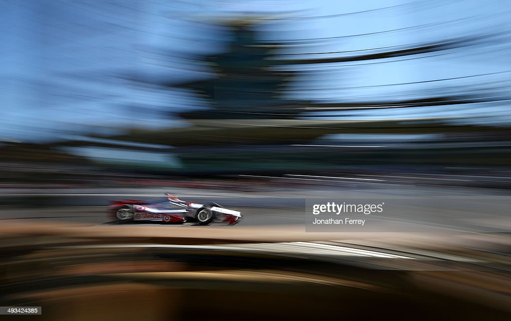 Tony Kanaan of Brazil, driver of the #10 Target Chip Ganassi Racing Chevrolet Dallara drives during the final practice on Carb Day for the the 98th running of the Indianapolis 500 Mile Race on May 23, 2014 at the Indianapolis Motor Speedway in Indianapolis, Indiana.
