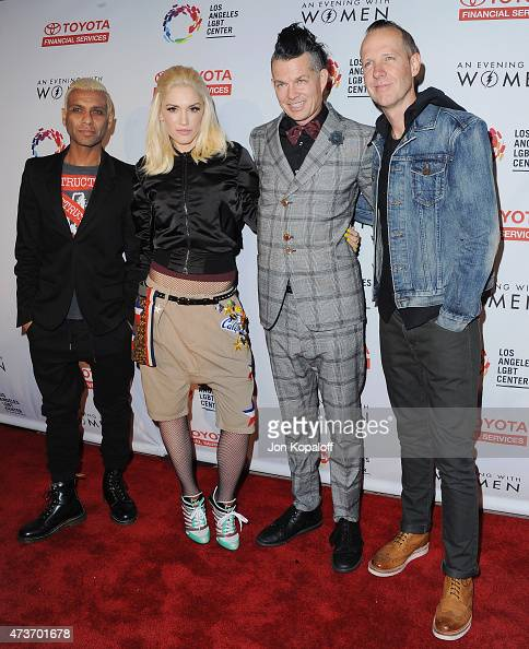 Tony Kanal Gwen Stefani Adrian Young and Tom Dumont of No Doubt arrive at An Evening With Women Benefitting The Los Angeles LGBT Center at Hollywood...