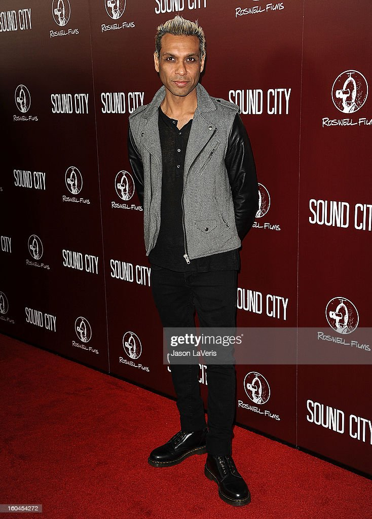 Tony Kanal of No Doubt attends the premiere of 'Sound City' at ArcLight Cinemas Cinerama Dome on January 31, 2013 in Hollywood, California.