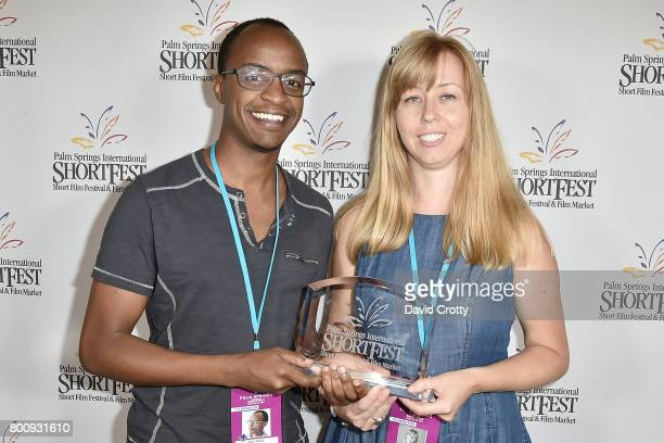 Tony Koros and Dominica Eriksen attend the 2017 Palm Springs International Festival of Short Films Awards Ceremony on June 25 2017 in Palm Springs...