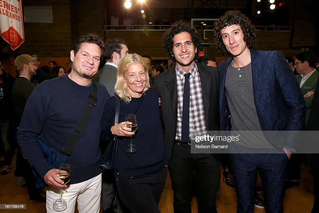 Tony Kretten, Sam Fayed and Liam Fayed and guest attend the GQ & Gap event to celebrate 2013 Best New Menswear Designers Collaboration on September 23, 2013 in New York City.