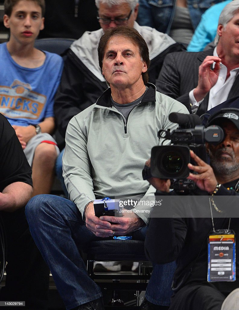 <a gi-track='captionPersonalityLinkClicked' href=/galleries/search?phrase=Tony+La+Russa&family=editorial&specificpeople=208187 ng-click='$event.stopPropagation()'>Tony La Russa</a> attends the New York Knicks vs Boston Celtics basketball game at Madison Square Garden on April 17, 2012 in New York City.