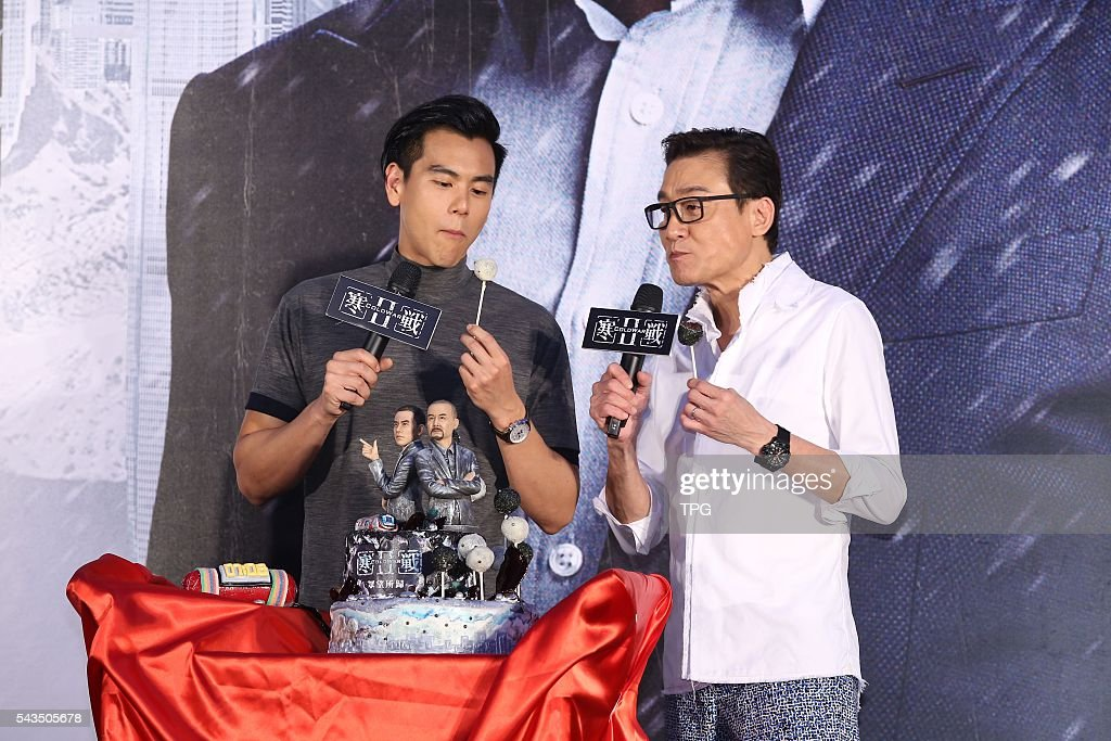 Tony Leung and Eddie Peng promote for Cold War II on 28th June, 2016 in Taipei, Taiwan, China.
