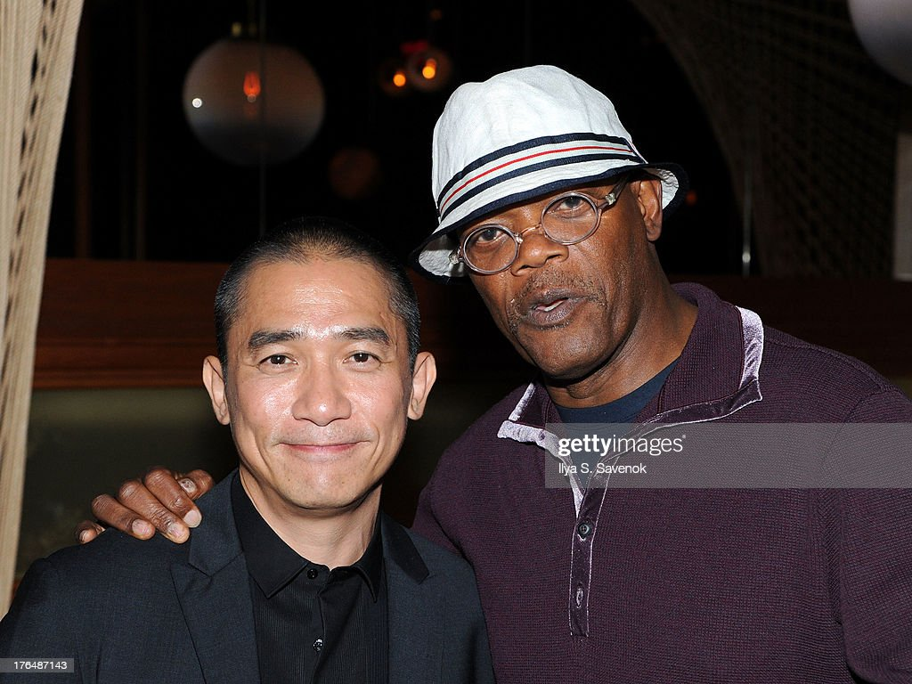 Tony Leung and <a gi-track='captionPersonalityLinkClicked' href=/galleries/search?phrase=Samuel+L.+Jackson&family=editorial&specificpeople=167234 ng-click='$event.stopPropagation()'>Samuel L. Jackson</a> attend 'The Grandmaster' New York Screening after party at Forty Four at the Royalton on August 13, 2013 in New York City.