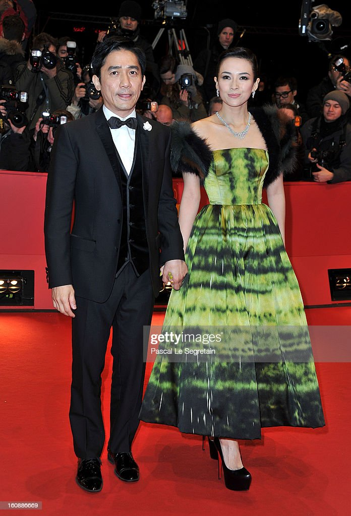 Tony Leung Chiu Wai and Zhang Ziyi attend 'The Grandmaster' Premiere during the 63rd Berlinale International Film Festival at Berlinale Palast on February 7, 2013 in Berlin, Germany.