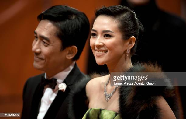 Tony Leung Chiu Wai and Zhang Ziyi attend the premiere of 'The Grandmaster' during the 63rd Berlinale International Film Festival at the Berlinale...