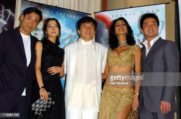Tony Leung Kafai Ka Fai Kim HeeSeon Jackie Chan Mallika Sherawat and Stanley Tong Director