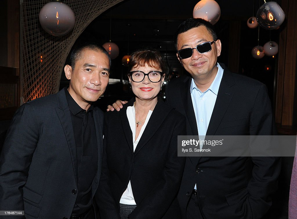 Tony Leung, <a gi-track='captionPersonalityLinkClicked' href=/galleries/search?phrase=Susan+Sarandon&family=editorial&specificpeople=202474 ng-click='$event.stopPropagation()'>Susan Sarandon</a> and Wong Kar Wai attend 'The Grandmaster' New York Screening after party at Forty Four at the Royalton on August 13, 2013 in New York City.
