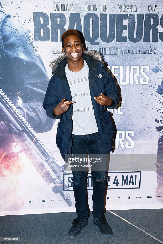 Tony Life attends 'Braqueurs' Premiere at UGC Cine Cite des Halles on April 28, 2016 in Paris, France.