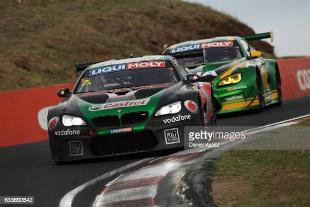 Tony Longhurst Mark Skaife Russell Ingall and Timo Glock drive the Team CASTROL BMW M6 GT3 during the 2017 Bathurst 12 hour race at Mount Panorama on...