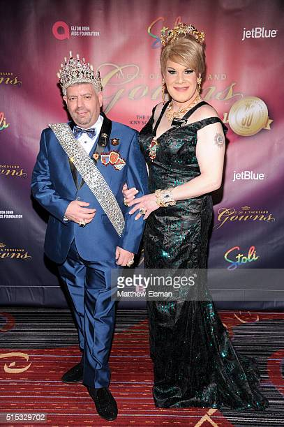 Tony Mantioli and Twinkle Montgomery attend the 30th Annual Night Of A Thousand Gowns at Marriott Marquis Times Square on March 12 2016 in New York...