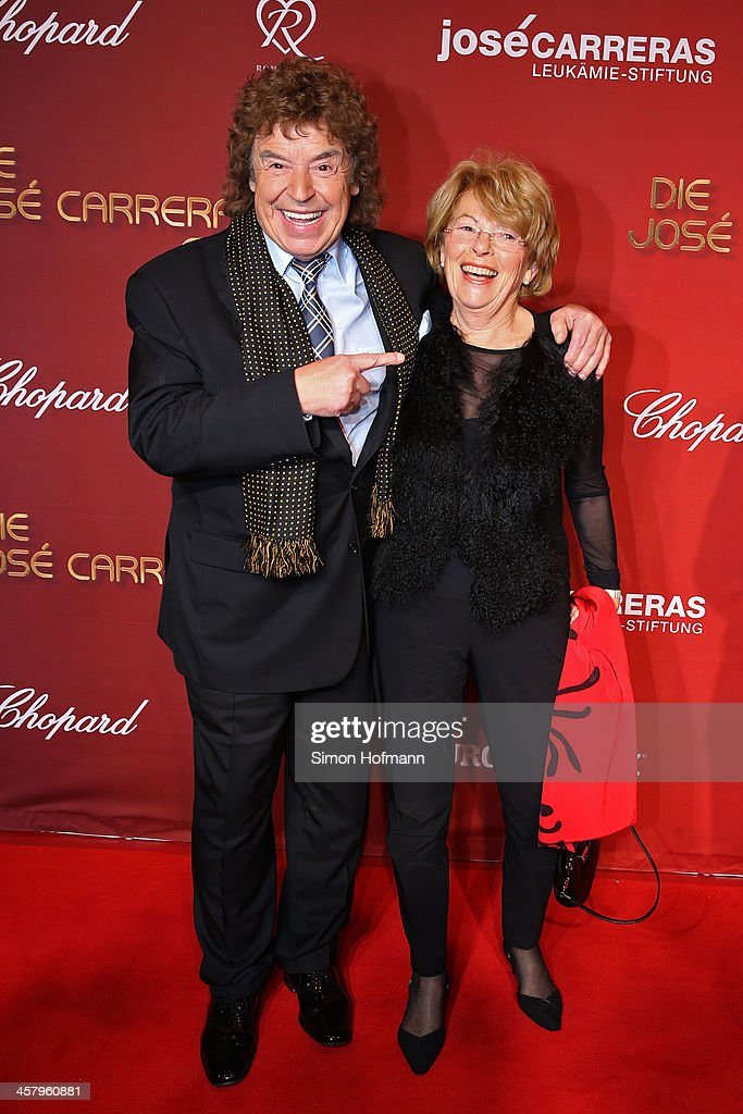 Tony Marschall and Elisabeth Nold attend the 19th Annual Jose Carreras Gala at Europapark on December 19, 2013 in Rust, Germany.