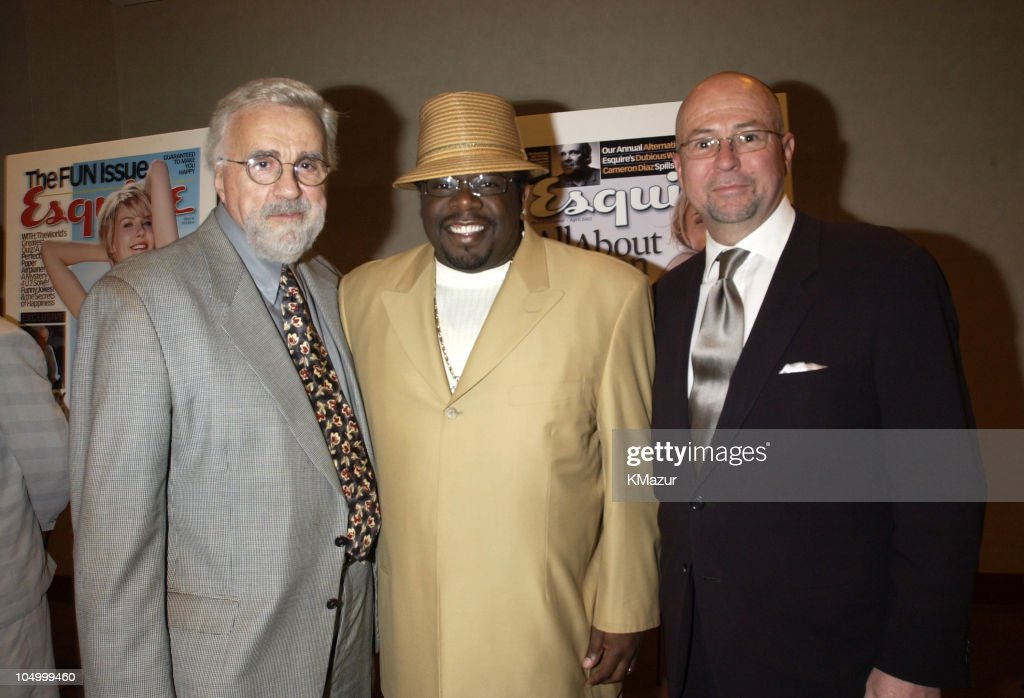 Tony Martell, Cedric the Entertainer, and David Granger, Editor-in-Chief of Esquire