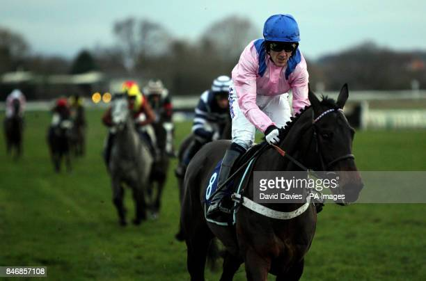 Tony McCoy comes home second on Key To The West in the Racing UK Intermediate Open National Hunt Flat Race at Warwick Races
