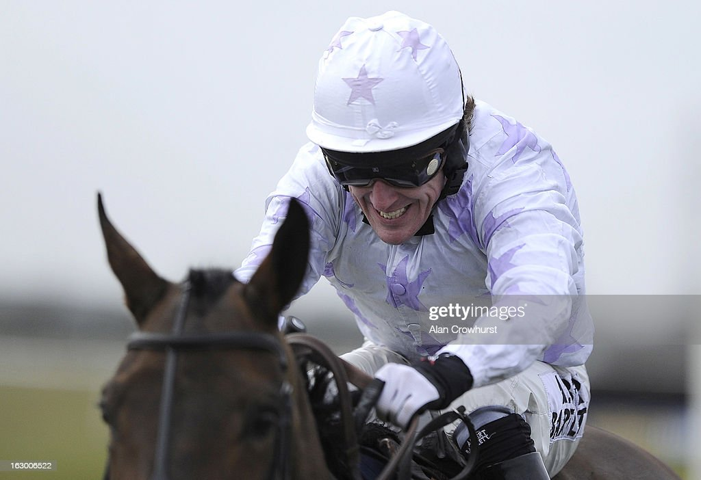 Tony McCoy in full flow at Huntingdon racecourse on March 03, 2013 in Huntingdon, England.