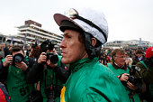 Tony McCoy leaves the weighing room to take his last ride at Cheltenham before retiring at the end of the season during Gold Cup day at the...