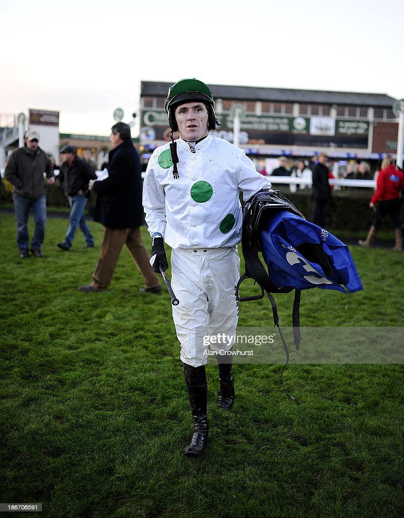 Tony McCoy poses at Carlisle racecourse on November 03, 2013 in Carlisle, England.