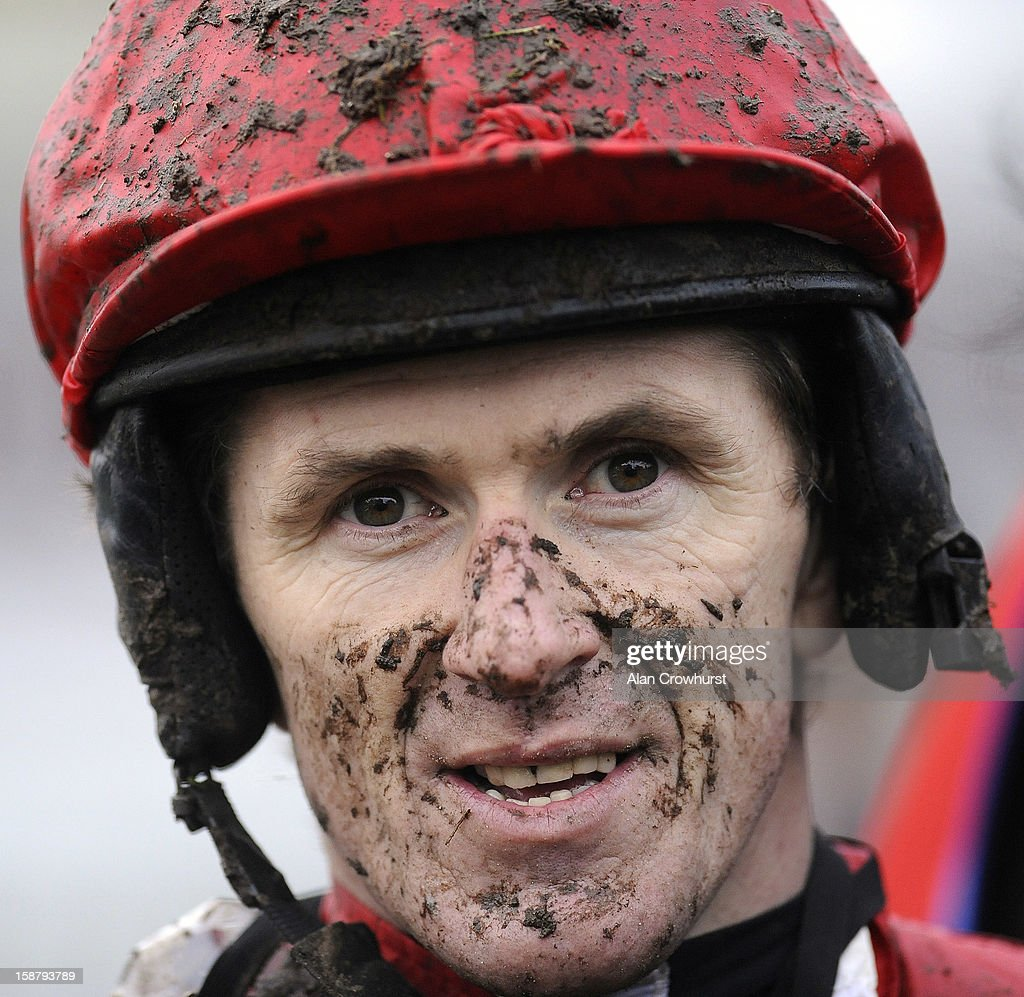 Tony McCoy poses at Newbury racecourse on December 29, 2012 in Newbury, England.