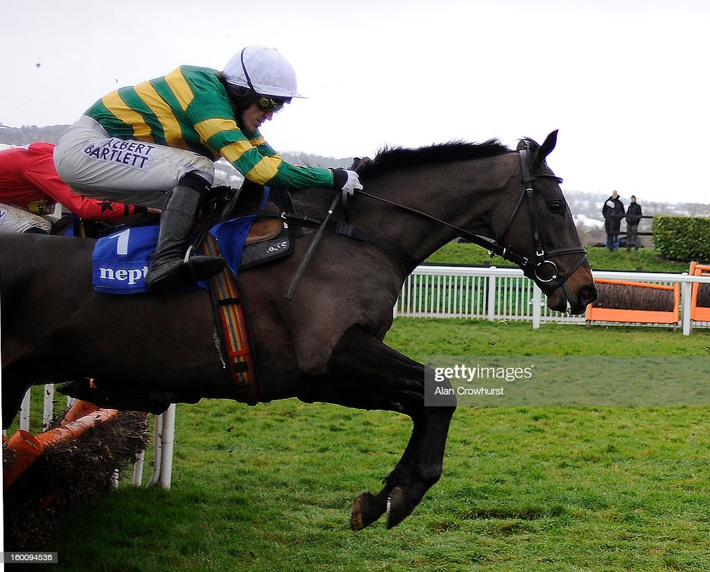 Tony McCoy riding At Fishers Cross on their way to winning The Neptune Investment Management Novices' Hurdle Race at Cheltenham racecourse on January 26, 2013 in Cheltenham, England.