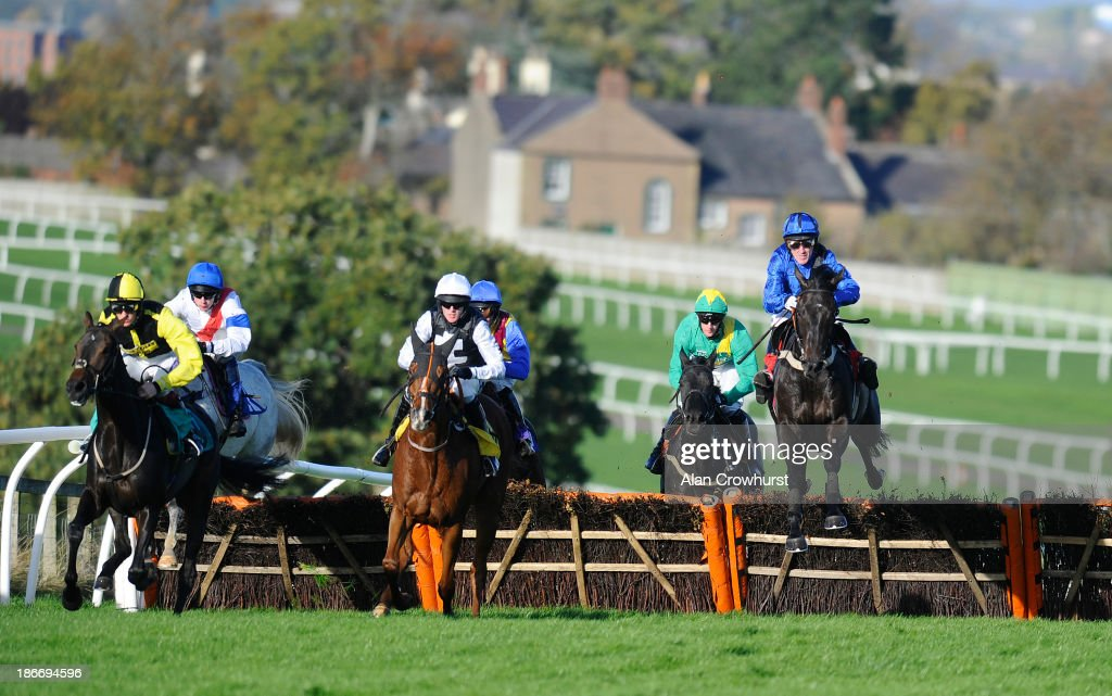Tony McCoy riding Bernardelli (R) in action at Carlisle racecourse on November 03, 2013 in Carlisle, England.