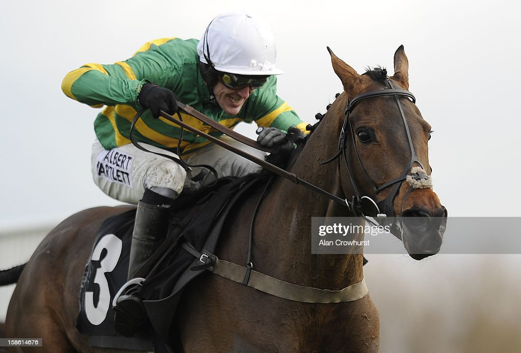 Tony McCoy riding Eastlake clear the last to win The Liberum Capital Novies' Handicap Steeple Chase at Ascot racecourse on December 21, 2012 in Ascot, England.