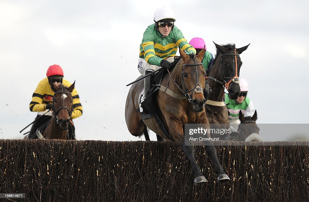 Tony McCoy riding Eastlake on their way to winning The Liberum Capital Novies' Handicap Steeple Chase at Ascot racecourse on December 21, 2012 in Ascot, England.