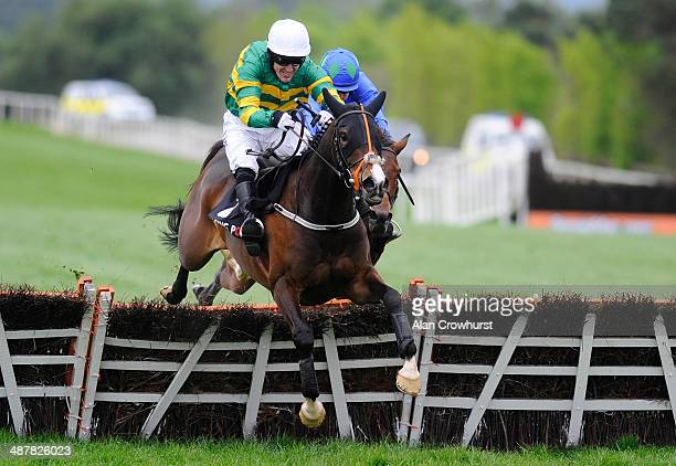Tony McCoy riding Jezki clear the last to win The Racing Post Champion Hurdle from Hurrican Fly at Punchestown racecourse on May 02 2014 in Naas...