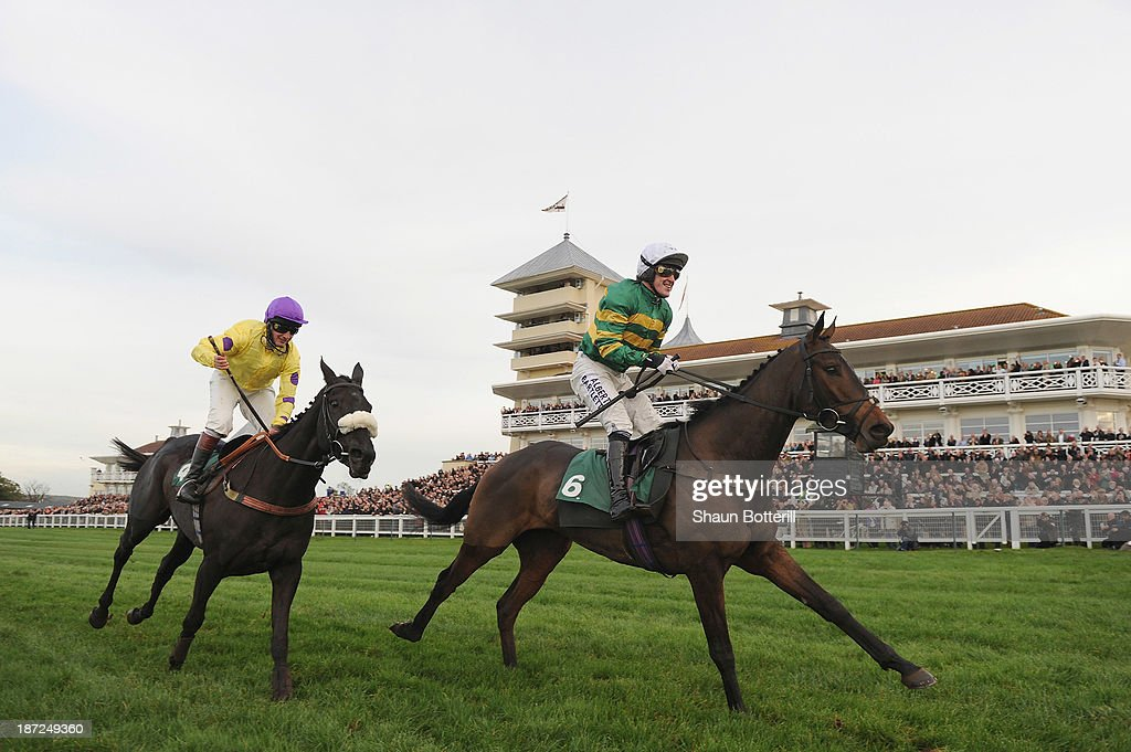 Tony McCoy riding Mountain Tunes wins the Weatherbys Novices' Hurdle Race for his 4000th winner on November 7, 2013 in Towcester, England.