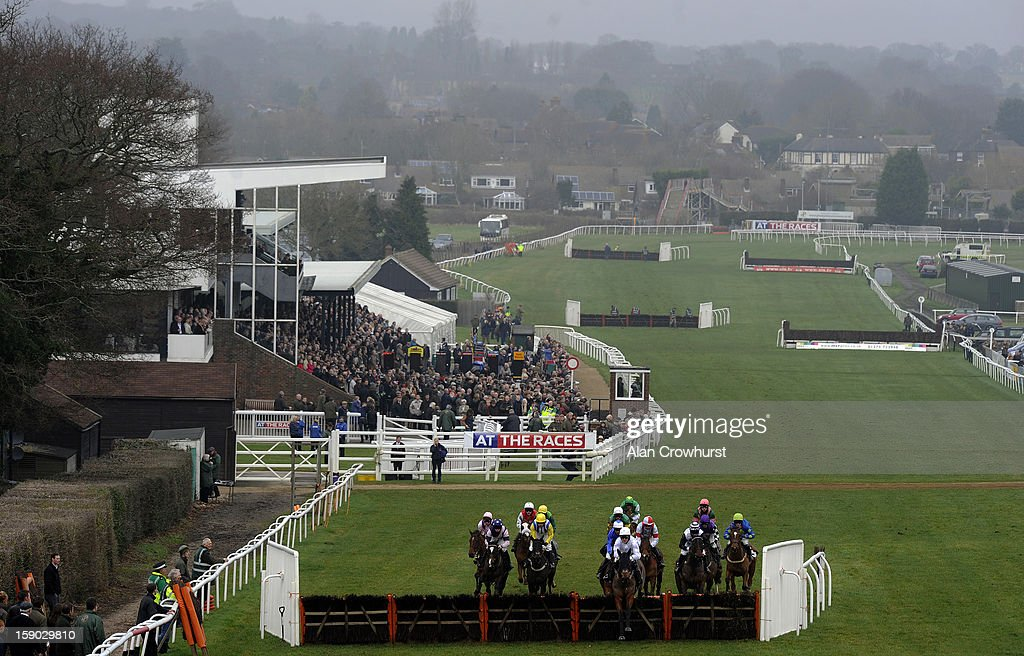 Tony McCoy riding Mr Watson lead all the way to win The At The Races Sky 415 Novices' Hurdle Race at Plumpton racecourse on January 06, 2013 in Plumpton, England.