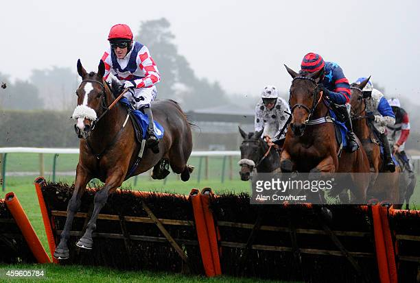 Tony McCoy riding Southfield Royale on their way to winning The Free Tips At raceclearcouk Novices' Hurdle Race on his return to race riding after a...