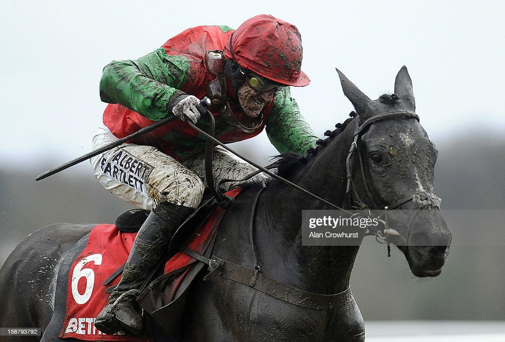 Tony McCoy riding Taquin Du Seuil clear the last to win The Betfred Mobile Sports Challow Novices' Hurdle Race at Newbury racecourse on December 29, 2012 in Newbury, England.