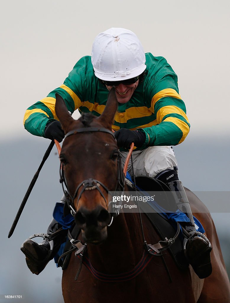 Tony McCoy riding Thunderstorm in action during 'The Bathwick Tyres Handicap Hurdle Race' at Taunton Racecourse on February 28, 2013 in Taunton, England.