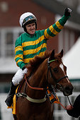 Tony McCoy riding Uxizandre win The Ryanair Steeple Chase at Cheltenham racecourse on March 12 2015 in Cheltenham England