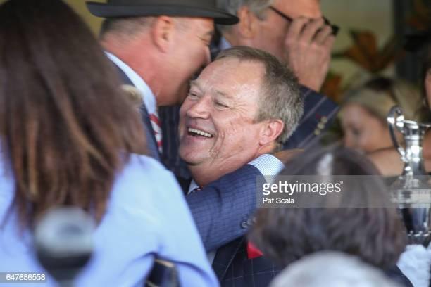Tony McEvoy after Hey Doc ridden by Luke Currie won the Australian Guineas at Flemington Racecourse on March 04 2017 in Flemington Australia