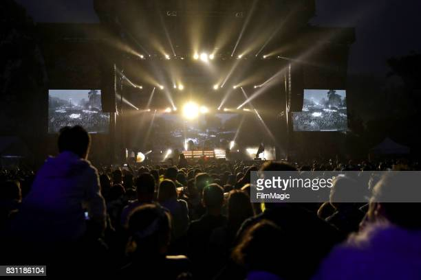 Tony McGuinness and Jono Grant of Above Beyond perform on the Twin Peaks Stage during the 2017 Outside Lands Music And Arts Festival at Golden Gate...