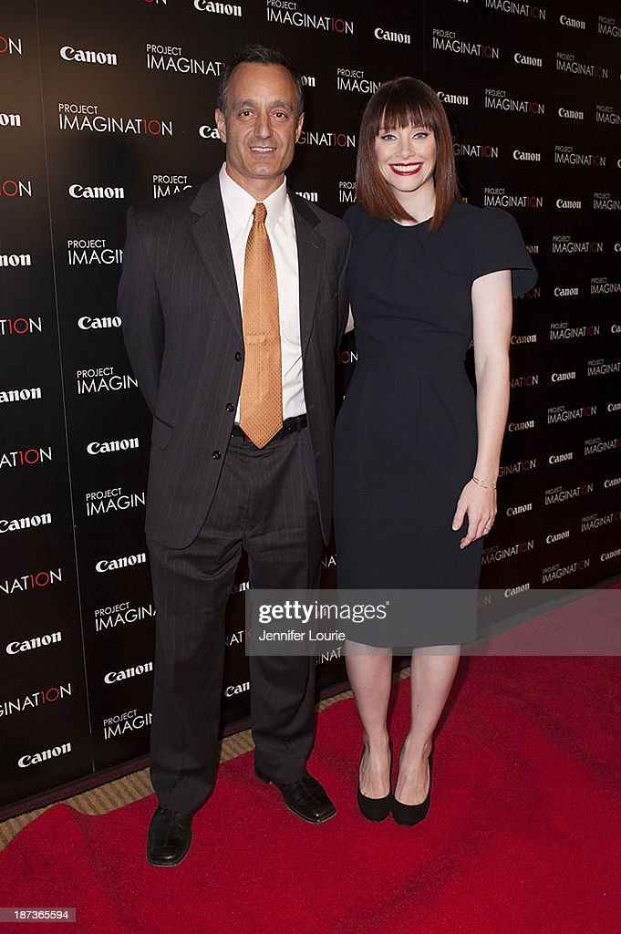 Tony McIlwain and <a gi-track='captionPersonalityLinkClicked' href=/galleries/search?phrase=Bryce+Dallas+Howard&family=editorial&specificpeople=156411 ng-click='$event.stopPropagation()'>Bryce Dallas Howard</a> attend the Los Angeles screening for Canon's 'Project Imaginat10n' film festival at Pacific Theatre at The Grove on November 7, 2013 in Los Angeles, California.