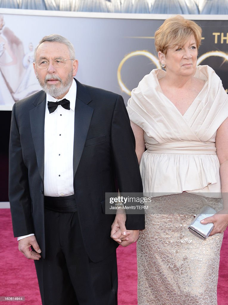 Tony Mendez (L) and guest arrive at the Oscars at Hollywood & Highland Center on February 24, 2013 in Hollywood, California.