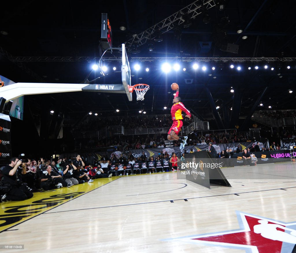 Tony Mitchell #18 of the Fort Wayne Mad Ants attempts a dunk during the NBA D-League Dream Factory presented by Boost Mobile in Sprint Arena at Jam Session during NBA All Star Weekend on February 16, 2013 at the George R. Brown in Houston, Texas.