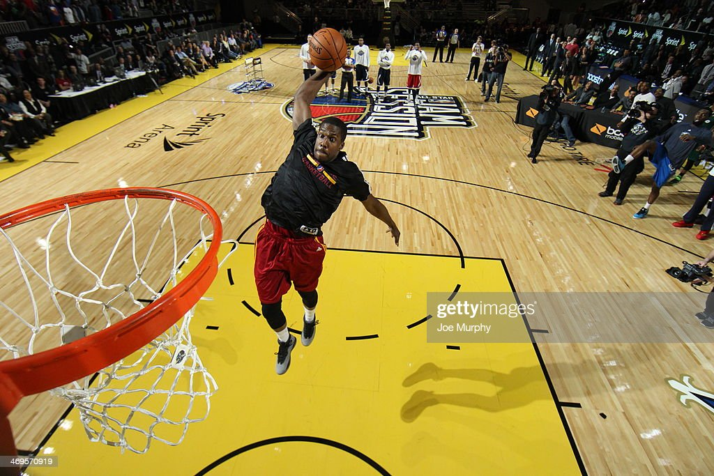 Tony Mitchell #18 of the Fort Wayne Mad Ants dunks during the Slam Dunk Contest as part of the NBA Dream Factory presented by Boost Mobile 2014 at Sprint Arena as part of 2014 NBA All-Star Weekend at the Ernest N. Morial Convention Center on February 15, 2014 in New Orleans, Louisiana.