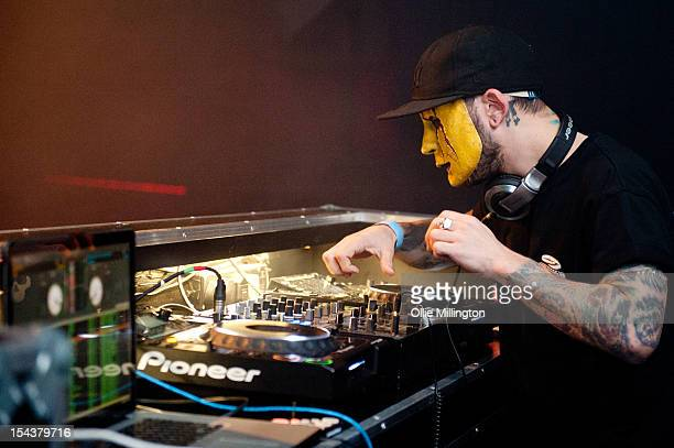 Tony Modestep of Modestep performs on stage at O2 Academy Leicester on October 18 2012 in Leicester United Kingdom