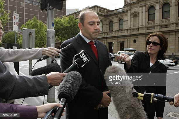 Tony Mokbel at the courts precinct after Mario Condello was gunned down at his home in Brighton last night on 7 February 2006 THE AGE NEWS Picture by...