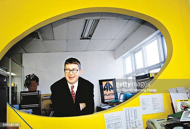 Tony Moore publisher at Pluto Press Australia in his office at Annandale 22 June 2001 SMH Picture by NARELLE AUTIO