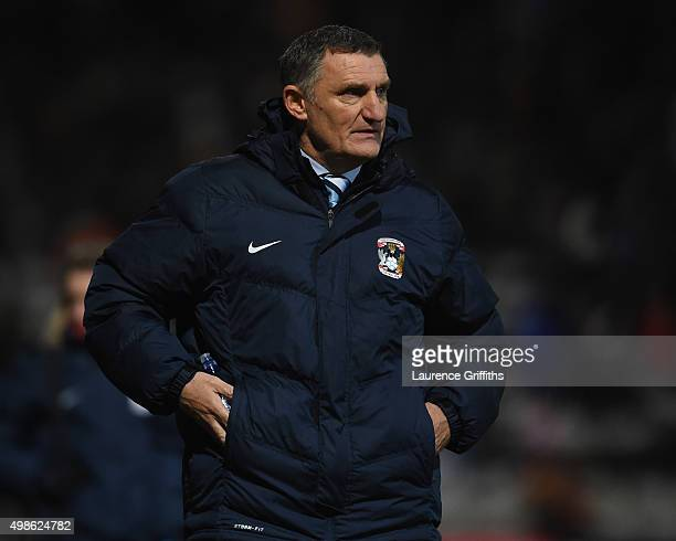 Tony Mowbray of Coventry City looks on during the Sky Bet League One match between Bradford City and Coventry City at Coral Windows Stadium on...